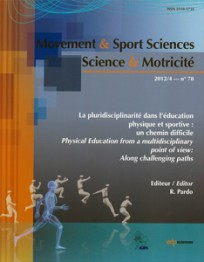 Sciences & motricité n°78